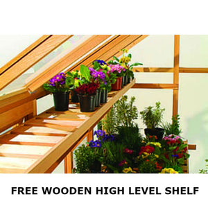 Free Wooden High Level Shelf  with every Gabriel Ash Wooden Greenhouse