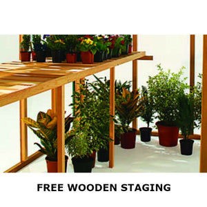 Free Wooden Staging with every Gabriel Ash Wooden Greenhouse