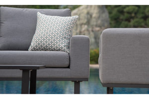 Maze Rattan Ethos 2 Seat Sofa Set In Weatherproof Fabric - Gardenbox