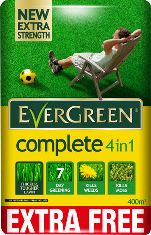 Evergreen Complete 4 in 1 Lawn Care - 360m2 plus 10% FREE - Gardenbox