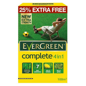Evergreen Complete 4 in 1 Lawn Care - 80m2 25% Extra FREE - Gardenbox