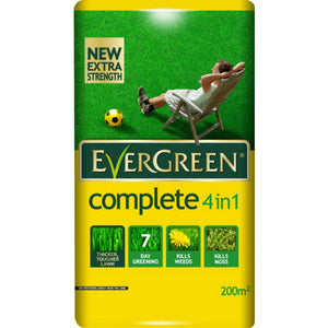 Evergreen Complete 4 in 1 Lawn Care - 200m2 - Gardenbox