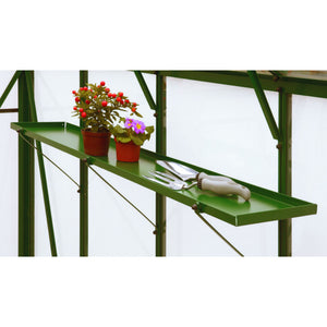 Elite Greenhouses Sheet Metal Shelving Range - Choice of Length & Superb Colours - Gardenbox