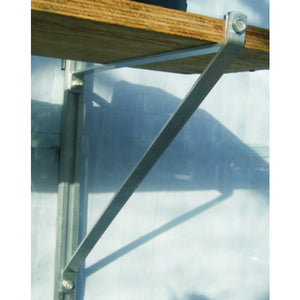 Independent Greenhouse or Shed Shelf Brackets - Fit a shelf to your desired size and choice of colour - Gardenbox