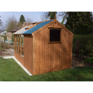 6ft Wide by 8ft Deep Combination Shed for your Swallow Kingfisher Greenhouse - Gardenbox