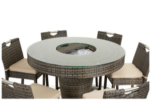 6 Seat Round Bar Set with Ice Bucket by Maze Rattan - Gardenbox