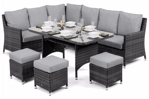 Copy of Venice Corner Sofa Dining Set with Ice Bucket by Maze Rattan - Gardenbox