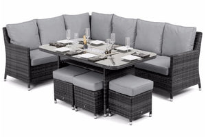 Venice Corner Sofa Dining Set with Ice Bucket by Maze Rattan - Gardenbox