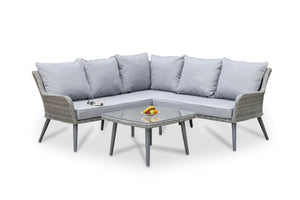 Florence Corner Group Retro Sofa Set by Maze Rattan - Gardenbox