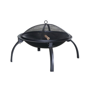 Foldable Fire Pit BBQ with Mesh Lid & Carry Bag - Gardenbox