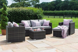 Georgia 3 Seat Sofa with Ice Bucket by Maze Rattan - Gardenbox