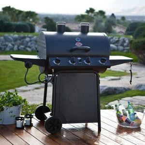 Great Value 3 Burner Gas BBQ - Chargriller Grilling Pro with Side Burner Gas Barbecue - Gardenbox