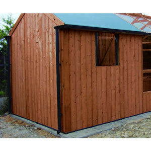 Swallow Kingfisher Greenhouse Combi Rainwater Kit 6x4 Greenhouse 6x8 Shed - Black - Gardenbox