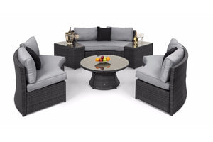 Half Moon Sofa Set by Maze Rattan - Gardenbox