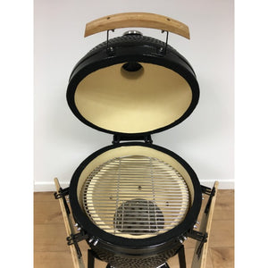 "Kamado Large 21"" Ceramic Big Green Egg Style Barbecue Oven - Gardenbox"