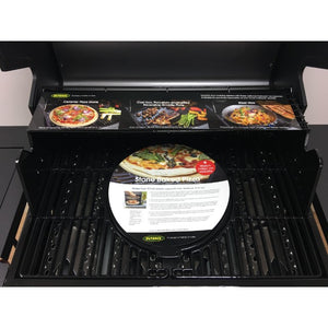Outback Jupiter 4 Burner Gas BBQ - Free Pizza Stone & Griddle