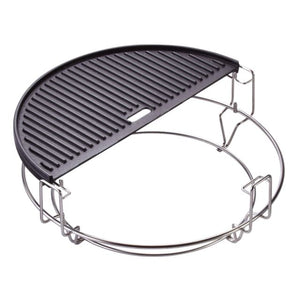 Kamado Joe Half Moon Reversible Cast Iron Griddle for Classic Series - Gardenbox
