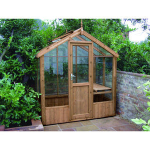 Swallow Kingfisher 6x4 Wooden Greenhouse in Natural Wood