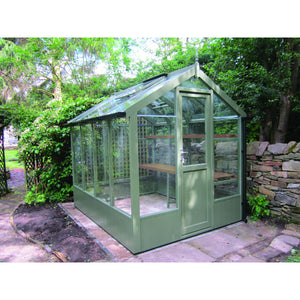 Kingfisher 6x8 Wooden Greenhouse finished in Bracken