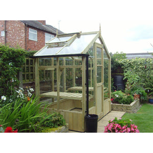 A 6x4 Swallow Kingfisher Wooden Greenhouse