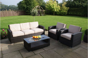 Kingston 3 Seat Sofa Set by Maze Rattan - Gardenbox