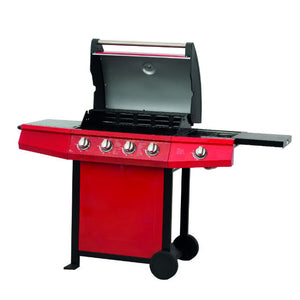 Lifestyle Grenada 4 +1 Side Burner Red Gas BBQ - Gardenbox
