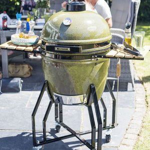 Kamado Charcoal Barbecue Large Ceramic Egg in Moss Green by La Hacienda - Gardenbox