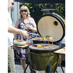 Kamado Charcoal Barbecue Medium Ceramic Egg in Harvest Gold by La Hacienda - Gardenbox