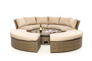 Tuscany Lifestyle Suite with Glass Top by Maze Rattan - Gardenbox
