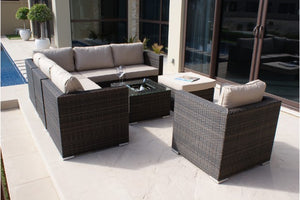 London Corner Group with Ice Bucket and Chair by Maze Rattan - Gardenbox