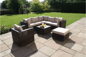 London Corner Group with Chair by Maze Rattan - Gardenbox