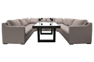 Magnafino Weatherproof Large Dining Sofa Set by Maze Rattan - Gardenbox