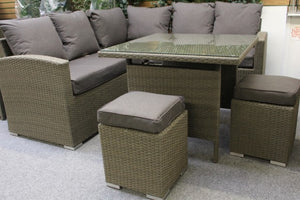Bespoke Mini Casual Dining Set Slate by Alexander Rose - Gardenbox