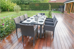 Monaco 8 Seat Rectangular Dining Set by Maze Rattan - Gardenbox