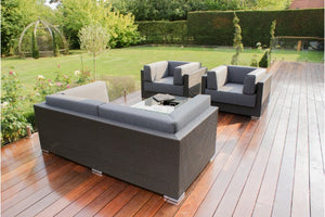 Monaco Chunky Sofa Set with Ice Bucket by Maze Rattan - Gardenbox