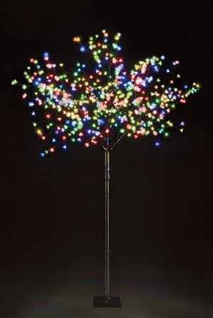 LED Cherry Blossom Indoor & Outdoor Pre-Lit Tree - Various Colours and Sizes - Gardenbox