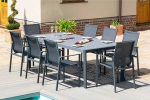 New York 8 Seat Dining Set by Maze Rattan - Gardenbox