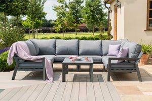New York U-Shaped Sofa Set by Maze Rattan - Gardenbox