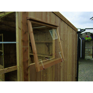 Install an opening window in the shed of your Kingfisher Wooden Greenhouse Combi