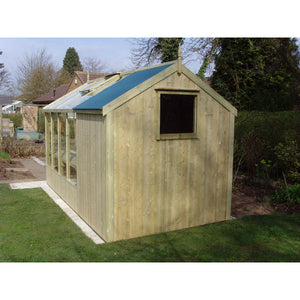 Add a Fixed Shed Window into a Combination Shed for your Swallow Kingfisher Greenhouse - Gardenbox