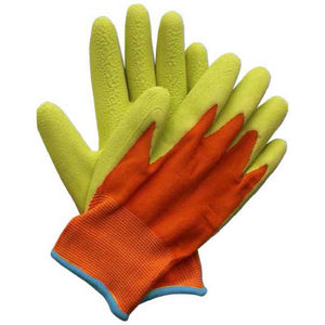 Children's Junior Digger Gardening Gloves Bright Colours - Choice of Style - Gardenbox