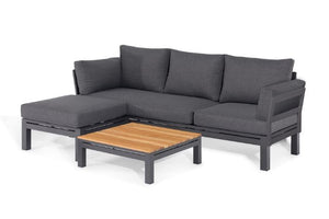 Oslo Chaise Sofa Set by Maze Rattan