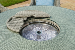 Oxford 6 Seat Round Bar Set with Ice Bucket by Maze Rattan