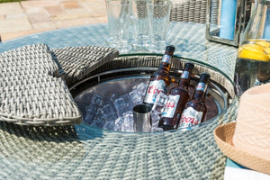 Oxford 6 Seat Round Bar Set with Ice Bucket by Maze Rattan - Gardenbox