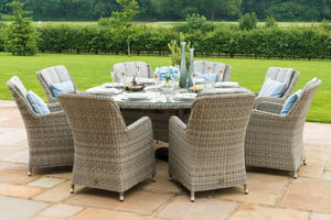 Oxford 8 Seat Round Ice Bucket Dining Set with Venice Chairs by Maze Rattan