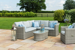 Oxford Small Corner Group with Armchair by Maze Rattan - Gardenbox