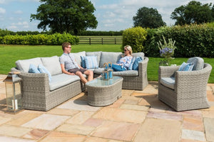 Oxford Large Corner Group with Armchair by Maze Rattan - Gardenbox