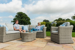 Oxford Large Corner Group with Armchair by Maze Rattan