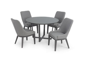 Pacific 4 Seat Round Weatherproof Dining Set by Maze Rattan