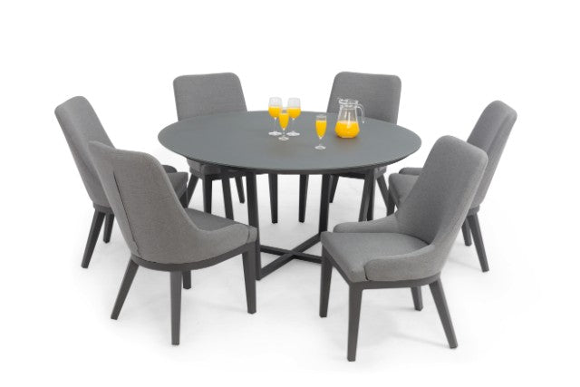 quality design 405dc a946b Pacific 6 Seat Round Weatherproof Dining Set by Maze Rattan